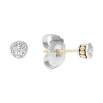 Lagos_Sterling_Silver_&_18K_Yellow_Gold_Diamonds_&_Caviar_Stud_Earrings,_0.12cttw