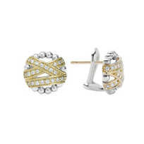 Lagos_Sterling_Silver_&_18K_Yellow_Gold_Embrace_Diamond_Stud_Earrings,_0.33cttw