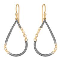 24K_Yellow_Gold_&_Sterling_Silver_Diamond_Teardrop_Earrings