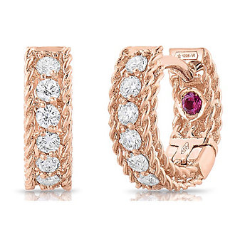 Roberto Coin 18K Rose Gold Symphony Small Hoop Earrings