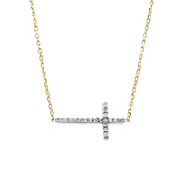14K_Yellow_and_White_Gold_Diamond_Horizontal_Cross