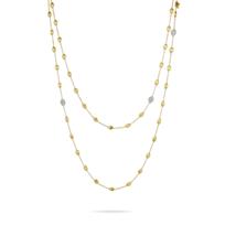 """Marco_Bicego_18K_Yellow_Gold_Diamond_Siviglia_Necklace,_49.25"""""""