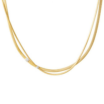 Marco Bicego 18K Yellow Gold & Diamond Masai Crossover Necklace