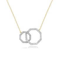 "phillips_house_14k_yellow_&_white_gold_diamond_double_hero_necklace,_18"""