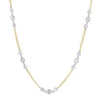 "14k_yellow_&_white_gold_diamond_station_necklace,_18"""