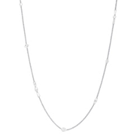 18K_White_Gold_Aero_Pierced_Diamond_Station_Necklace,_20.5""