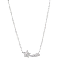 14K_White_Gold_Round_Diamond_Shooting_Star_Necklace,_16-18""