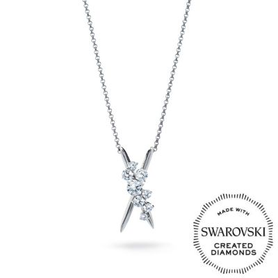 DIAMA 18K White Gold Intimate Swarovski Created Diamond