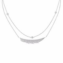 """stephen_webster_18k_white_gold_diamond_pave_magnipheasant_feather_necklace,_16"""""""