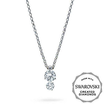 Diama 18K White Gold Intimate Swarovski Created Diamond Pendant