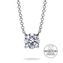 "diama_18k_white_gold_swarovski_created_diamond_essentials_necklace,_17.5""_____________________"