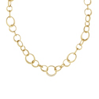 Carelle_18K_Yellow_Gold_Diamond_and_Round_Link_Necklace,_18""