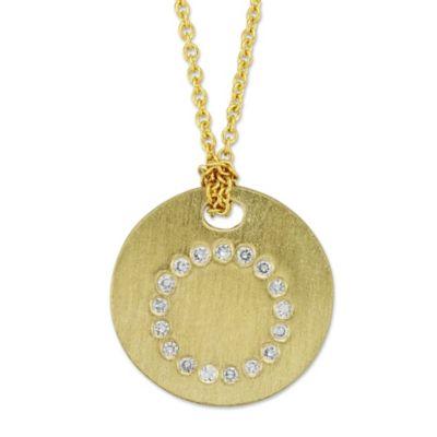 Roberto Coin Diamond Initial Disc Pendant