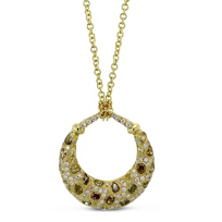18K_Yellow_Gold_Brown_and_White_Diamond_Necklace,_2.61cttw