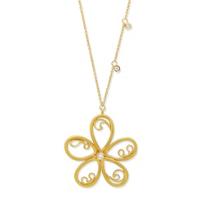 14K_Yellow_Gold_Scroll_Flower_Diamond_Pendant