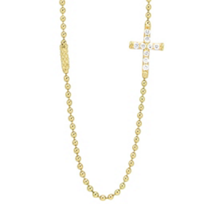 Lagos_Sterling_Silver_&_18K_Yellow_Gold_Covet_Cross_Diamond_Necklace