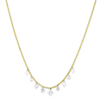 18K_Yellow_Gold_Aero_Pierced_Round_&_Princess_Cut_Diamond_Necklace,_18""