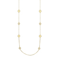 Roberto_Coin_18K_Yellow_Gold_Diamond_Circle_Station_New_Barocco_Necklace,_36""
