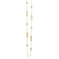 """Roberto_Coin_18K_Yellow_Gold_Diamond_Large_Alternating_Station_New_Barocco_Necklace,_36"""""""