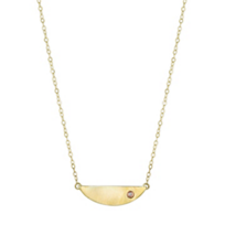 Melissa_Joy_Manning_14K_Yellow_Gold_Diamond_Mini_Collar_Necklace,_18""