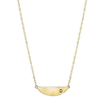 Melissa Joy Manning 14K Yellow Gold Diamond Mini Collar Necklace, 18""