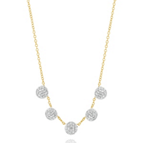 """phillips_house_14k_yellow_gold_diamond_5_station_infinity_dbty_necklace,_18"""""""