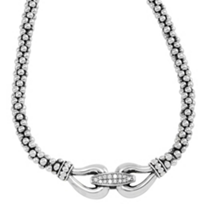 Lagos_Sterling_Silver_&_Round_Diamond_Derby_Caviar_Buckle_Necklace