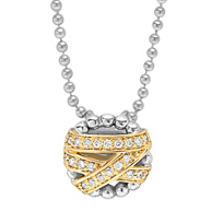 Lagos_Sterling_Silver_&_18K_Yellow_Gold_Embrace_Diamond_Pendant,_0.22cttw