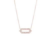 Sethi_Couture_18K_Rose_Gold_Open_Hexagon_Diamond_Necklace,_0.63cttw