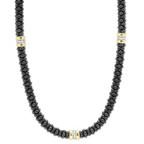 Lagos_Sterling_Silver_&_18K_Yellow_Gold_Black_Caviar_Diamond_Beaded_Necklace