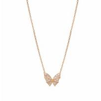 """stephen_webster_18k_rose_gold_fly_by_night_diamond_pave_necklace,_15.5"""""""