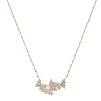 "stephen_webster_18k_rose_gold_fly_by_night_diamond_pave_triple_necklace,_15.5"""