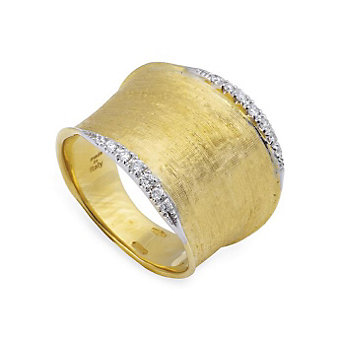 Marco Bicego 18K Yellow Gold & Diamond Lunaria Ring, Medium