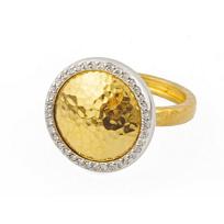 Gurhan_24K_Yellow_Gold_Lentil_Diamond_Ring