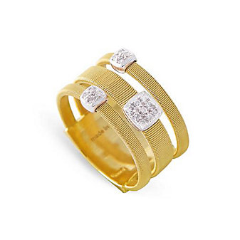 Marco Bicego 18K Yellow Gold & Diamond Masai Three Row Ring