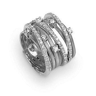 Marco Bicego 18K White Gold & Diamond Goa Nine Strand Ring