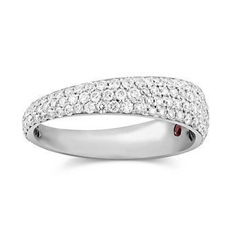 Robert Coin 18K White Gold Diamond Scalare Ring