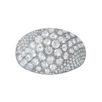 14K White Gold Waterfall Diamond Ring, 2.31cttw