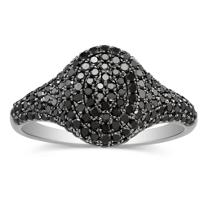 14K_White_Gold_Black_Diamond_Ring