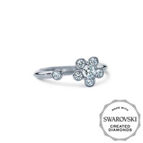 Diama_18K_White_Gold_Bloom_Swarovski_Created_Diamond_Open_Ring