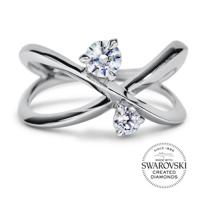 diama_18k_white_gold_swarovski_created_2_diamond_encounter_x_ring