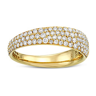 Roberto Coin 18K Yellow Gold Diamond Scalare Ring, 0.67cttw