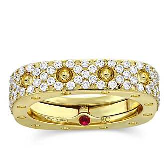 Roberto Coin 18K Yellow Gold Diamond Pois Mois Ring