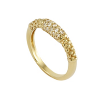 Lagos_18K_Yellow_Gold_Caviar_Gold_Diamond_Ring
