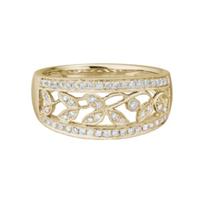 14K_Yellow_Gold_Vine_Diamond_Ring,_0.26cttw