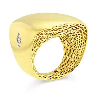 Roberto Coin 18K Yellow Gold Diamond Ensemble Ring