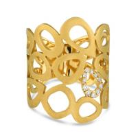 14K_Yellow_Gold_Diamond_Honeycomb_Ring