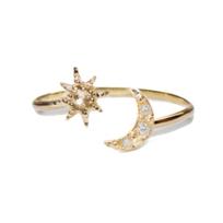 Anzie_14K_Yellow_Gold_Aztec_Moon_Crescent_&_Starburst_Ring