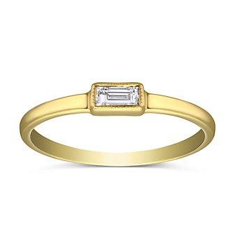 Sethi Couture 18K Yellow Gold Baguette Diamond Ring