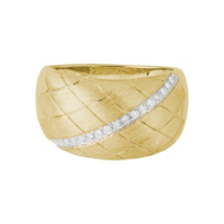 14K_Yellow_Gold_Quilted_Satin_Diamond_Ring,_0.13cttw